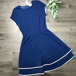LOVE...ADY | sz M NWT navy fit and flare dress